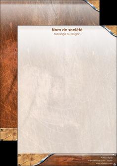 creer modele en ligne tete de lettre climatisation et chauffage bois wood nature MLGI13074