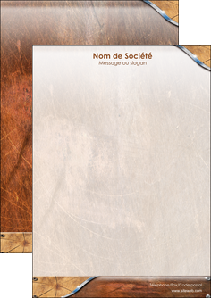 impression flyers climatisation et chauffage bois wood nature MLGI13078