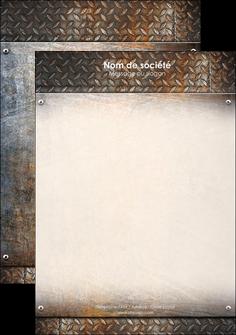 maquette en ligne a personnaliser tete de lettre abstrait acier alliage MLIG13144