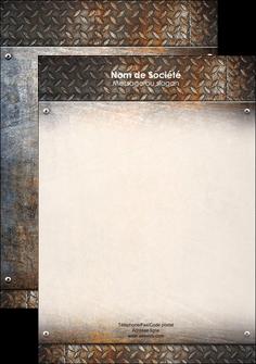 exemple affiche abstrait acier alliage MLIG13150