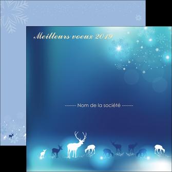 Impression Carte de voeux  Carte de voeux devis d'imprimeur publicitaire professionnel Flyers Carré 14,8 x 14,8 cm