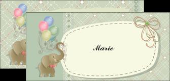 creer modele en ligne flyers elephant gris ballons MLIG13866