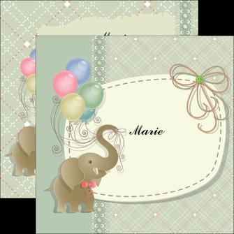 creer modele en ligne flyers elephant gris ballons MLIG13868