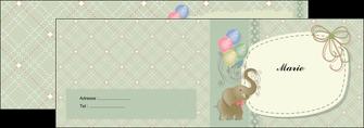 personnaliser maquette depliant 2 volets  4 pages  elephant gris ballons MLIG13870