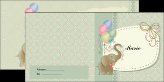 faire modele a imprimer depliant 2 volets  4 pages  elephant gris ballons MLIG13872