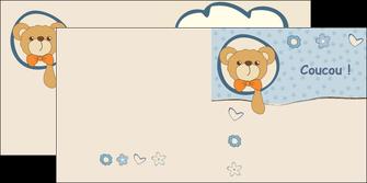 maquette en ligne a personnaliser depliant 2 volets  4 pages  dessin anime invitation MLGI14384