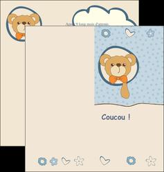 maquette en ligne a personnaliser depliant 2 volets  4 pages  dessin anime invitation MLGI14388