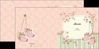 faire modele a imprimer depliant 2 volets  4 pages  faire part de naissance carte de naissance carte naissance MIF14400