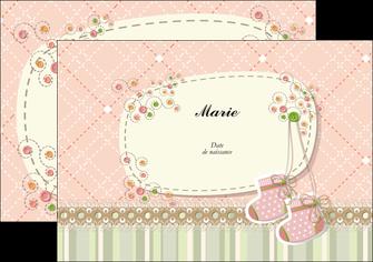 personnaliser modele de flyers faire part de naissance carte de naissance carte naissance MLIG14402