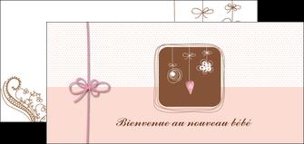 creation graphique en ligne flyers invitation naissance faire part de naissance carte de naissance MLGI14746