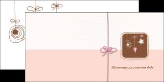 maquette en ligne a personnaliser depliant 2 volets  4 pages  invitation naissance faire part de naissance carte de naissance MLGI14752