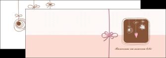 personnaliser modele de depliant 2 volets  4 pages  invitation naissance faire part de naissance carte de naissance MLGI14754