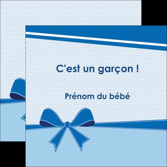 maquette en ligne a personnaliser flyers fille carte de naissance pour  garcon carton de naissance pour garcon MLIG14942