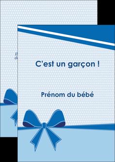 creation graphique en ligne flyers fille carte de naissance pour  garcon carton de naissance pour garcon MLIG14948