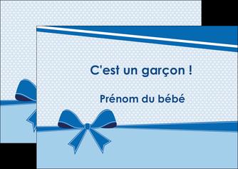 imprimerie flyers fille carte de naissance pour  garcon carton de naissance pour garcon MLIG14950