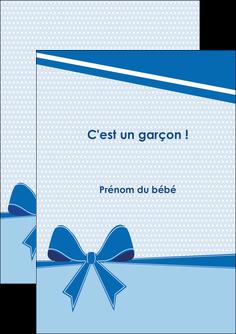 impression flyers fille carte de naissance pour  garcon carton de naissance pour garcon MLIG14952