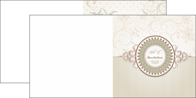 Extrêmement Dépliant 2 volets (4 pages) modèle et exemple anniversaire, carte  AQ02