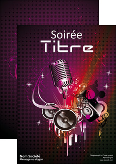 personnaliser modele de affiche discotheque et night club abstract adore advertise MLIG15462