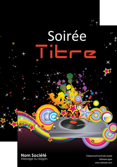 faire modele a imprimer affiche discotheque et night club abstract adore advertise MIF15678