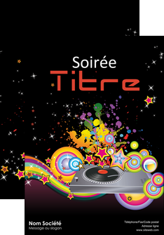 maquette en ligne a personnaliser affiche discotheque et night club abstract adore advertise MIF15680