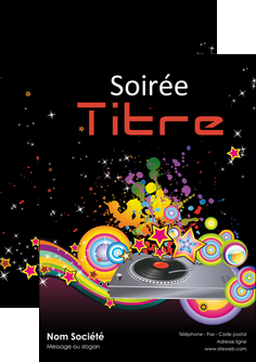 faire flyers discotheque et night club abstract adore advertise MIF15682