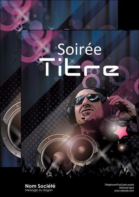 creation graphique en ligne affiche discotheque et night club bal boite boite de nuit MLIG15912