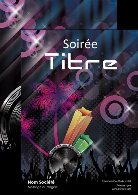 personnaliser modele de flyers discotheque et night club bal boite boite de nuit MLIG15922