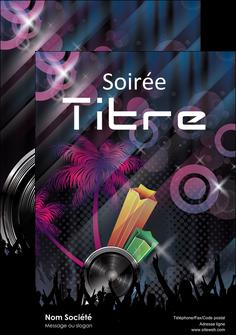 maquette en ligne a personnaliser affiche discotheque et night club bal boite boite de nuit MID15924