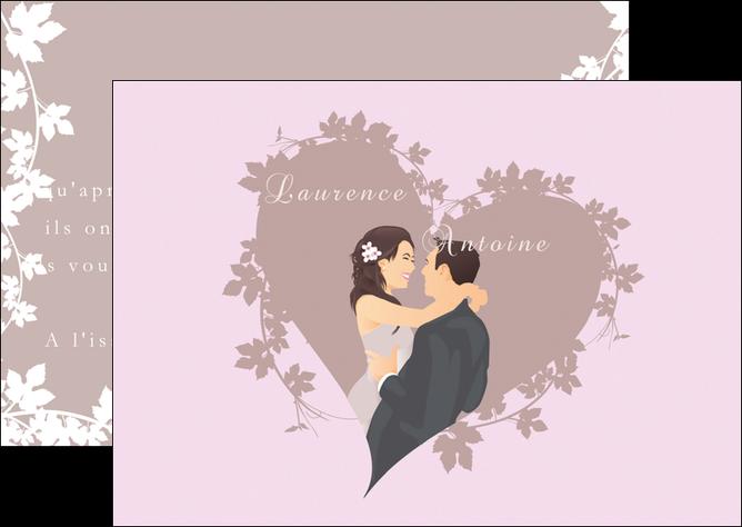 Flyers modèle et exemple mariage, carte mariage, carte de ...
