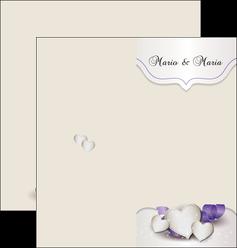 creation graphique en ligne depliant 2 volets  4 pages  mariage faire part mariage faire part de mariage MIS17838