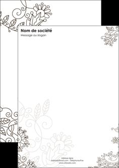 modele tete de lettre fleuriste et jardinage abstrait blanc design MLGI18124