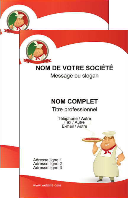 Carte De Visite Modele Et Exemple Pizza Pizzeria