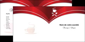 faire depliant 2 volets  4 pages  bar et cafe et pub cafe cafeteria tasse de cafe MLGI18782
