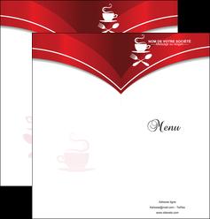 modele en ligne depliant 2 volets  4 pages  bar et cafe et pub cafe cafeteria tasse de cafe MLGI18794