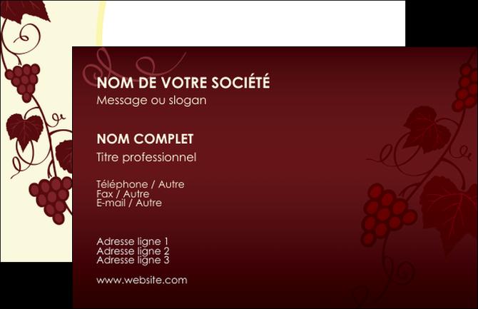 Creer Modele En Ligne Carte De Visite Vin Commerce Et Producteur Vigne Vignoble MLGI18800