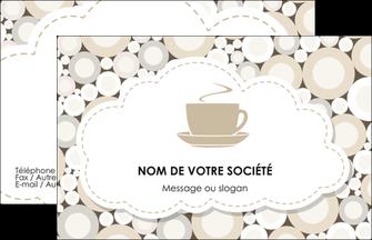 Exemple Carte De Visite Bar Et Cafe Pub Salon The Buvette Brasserie MLGI18846