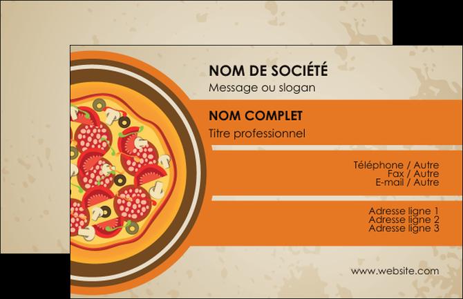 Imprimer Carte De Visite Pizzeria Et Restaurant Italien Pizza Portions Plateau MLGI18980