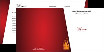 creation graphique en ligne depliant 2 volets  4 pages  vin commerce et producteur magasin de vin cave a vin producteur de vin MLIG19010