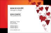 personnaliser modele de carte de visite vin commerce et producteur raisins grappe de raisins culture de raisins MLGI19026