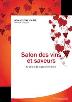 faire modele a imprimer flyers vin commerce et producteur raisins grappe de raisins culture de raisins MLIG19038