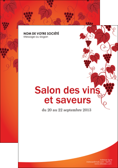 faire modele a imprimer flyers vin commerce et producteur raisins grappe de raisins culture de raisins MLGI19038