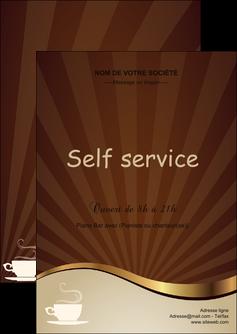 maquette en ligne a personnaliser flyers bar et cafe et pub cafe tasse de cafe bistro MLGI19106