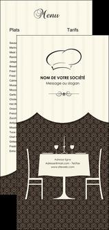 maquette en ligne a personnaliser flyers restaurant restaurant restauration restaurateur MIF19206
