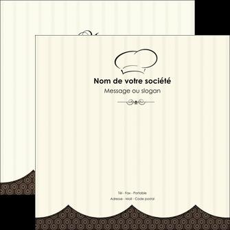 personnaliser modele de flyers restaurant restaurant restauration restaurateur MIF19212