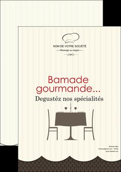 modele en ligne affiche restaurant restaurant restauration restaurateur MIF19224