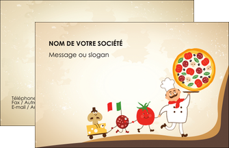 exemple carte restaurant pizza à personnaliser