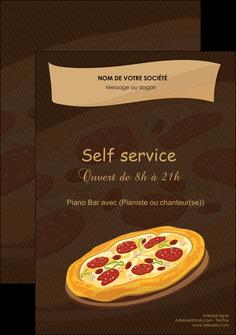 modele flyers pizzeria et restaurant italien pizza plateau plateau de pizza MLGI19488