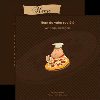 modele flyers pizzeria et restaurant italien pizza plateau plateau de pizza MLGI19490