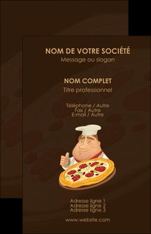 impression carte de visite pizzeria et restaurant italien pizza plateau plateau de pizza MLGI19492