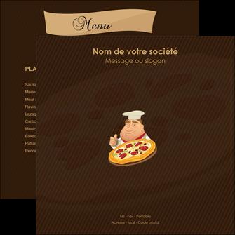 personnaliser maquette flyers pizzeria et restaurant italien pizza plateau plateau de pizza MLGI19494